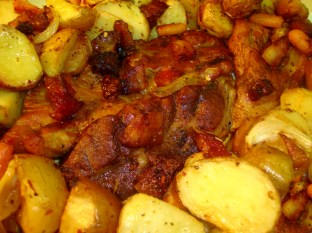 oven roasted pork with potatoes 1